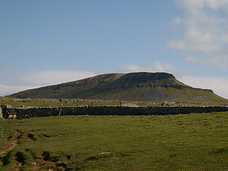 Pen-y-ghent mountain in the United Kingdom