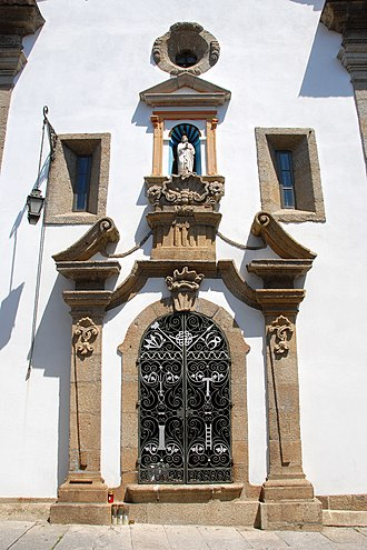 Penafiel - The front facade and portico of the Misericórdia