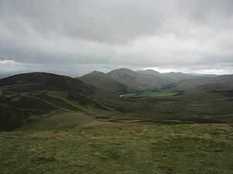 Pentland Hills - The Pentland Hills seen from Allermuir Hill