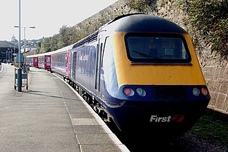 FirstGroup - First Great Western High Speed Train at Penzance in October 2009