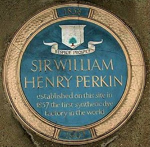 William Henry Perkin - Blue plaque in Greenford, near the Grand Union Canal. Replaced in 2006.