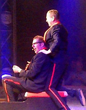 Søren Østergaard - Søren Østergaard (L.) and Peter Frödin (R.) performing in Zirkus Nemo