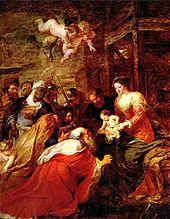 Anbetung der Heiligen Drei Könige (Peter Paul Rubens), 1633–1634 (Quelle: Wikimedia)