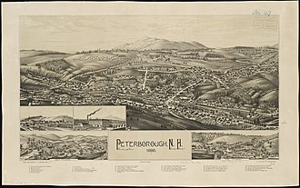 Peterborough, New Hampshire - Print of Peterborough, New Hampshire by L.R. Burleigh