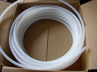 Perfluoroether - PFA tubing is commonly used to handle aggressive chemicals