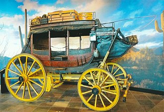 Wells Fargo - 1879 Wells Fargo Stagecoach on exhibit in the Wells Fargo Museum in Phoenix