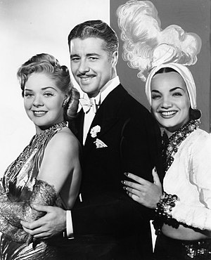 Irving Cummings - Don Ameche, Alice Faye, and Carmen Miranda in That Night in Rio, 1941.
