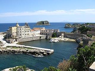 Pianosa island in the Tuscan Archipelago, Italy