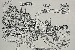 Boudry - Map of Boudry