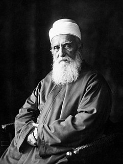 ʻAbdul-Bahá Son of Bahá'ulláh and leader of the Bahá'í Faith