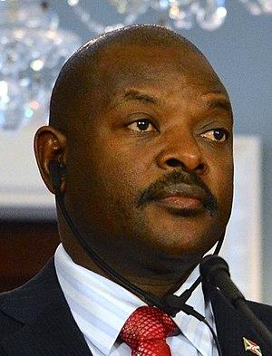 Pierre Nkurunziza - Image: Pierre Nkurunziza 2014 press conference (cropped)