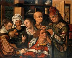 Pieter Huys A surgeon extracting the stone of folly.jpg