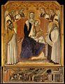 Pietro lorenzetti, madonna col bambino, san nicola di bari, elia e angeli, chiesa del carmine, siena, 1329, 171x161cm.jpg