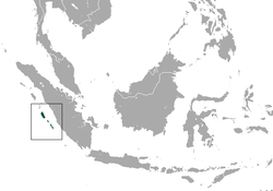 Distribución del simias concolor