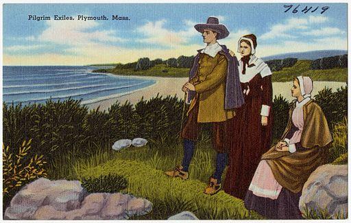 Pilgrim exiles, Plymouth, Mass (76419)
