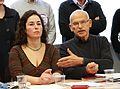 Pinar Selek et Günter Wallraff conférence de presse Strasbourg 25 janvier 2013.jpg