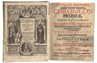 <i>Chronicon terrae Prussiae</i>