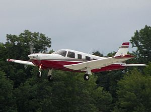 John F. Kennedy Jr. plane crash - A Piper Saratoga similar to N9253N, the aircraft flown by John F. Kennedy Jr. on the night of the accident