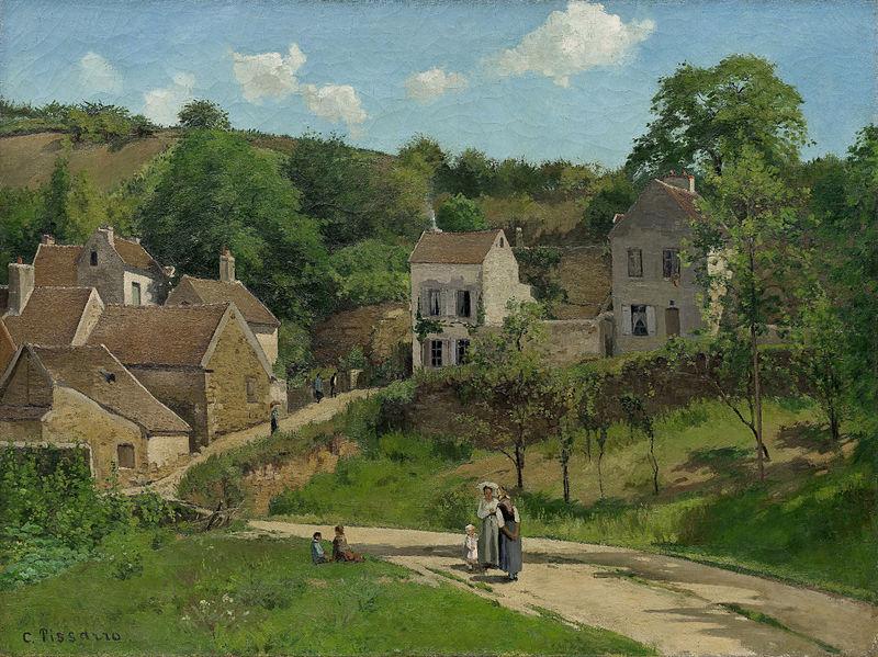 Súbor:Pissarro L'Hermitage à Pontoise,1867.jpg