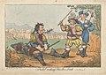 """Pistol eating Fluellen's Leak - """"Henry V"""", Henry William Bunbury (c.1811).jpg"""