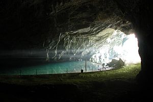 Unica (river) - The confluence in Planina Cave