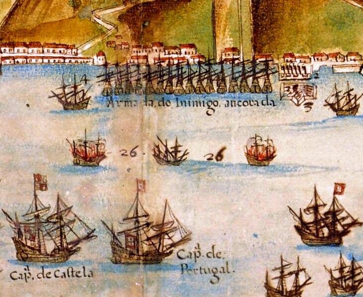 Planta da Restituição da BAHIA, por João Teixeira Albernaz, capitania de Portugal