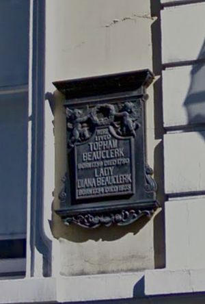 Topham Beauclerk - Image: Plaque, Great Russel Street