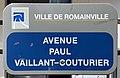 Plaque Avenue Paul Vaillant Couturier - Romainville (FR93) - 2021-04-24 - 1.jpg