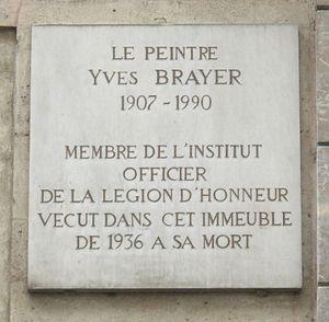 Yves Brayer - Commemorative plaque