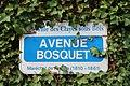 Plaque avenue Bosquet, Les Clayes-sous-Bois, Yvelines.jpg
