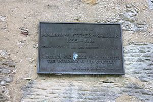 Andrew Fletcher (patriot) - Plaque to Andrew Fletcher of Saltoun