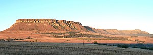 Harrismith - Platberg's western aspect at dusk