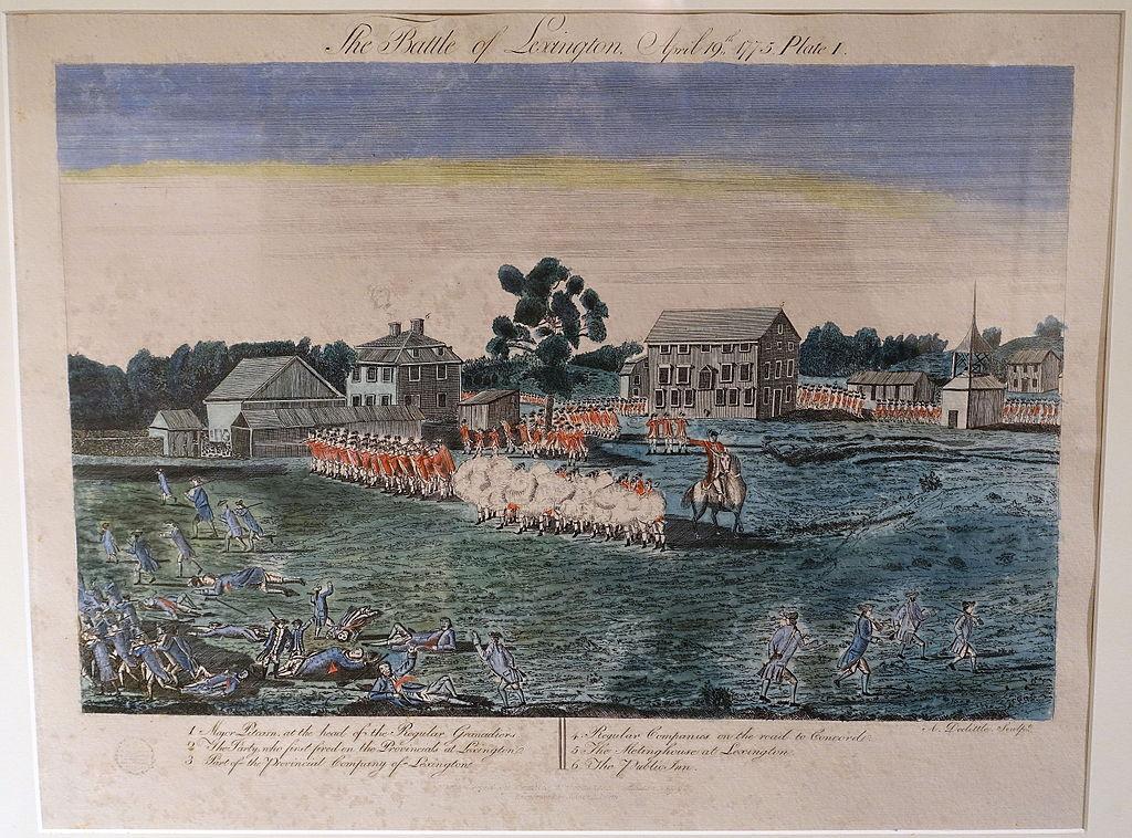 File:Plate I, The Battle of Lexington, Amos Doolittle ...