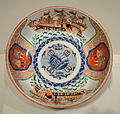 Plate decorated with Dutch traders and ships, Imari ware, Japan, 19th century, porcelain - Cincinnati Art Museum - DSC03139.JPG