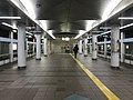 Platform of Cosmosquare Station (Nanko Port Town Line) 4.jpg