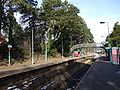 Platforms and footbridge at Hengoed railway station in 2009.jpg