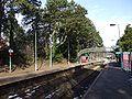 Platforms and footbridge at Hengoed railway station in 2009.jpg