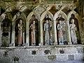 Plouha (22) Chapelle de Kermaria-an-Isquit Porche sud Apôtres 04.JPG