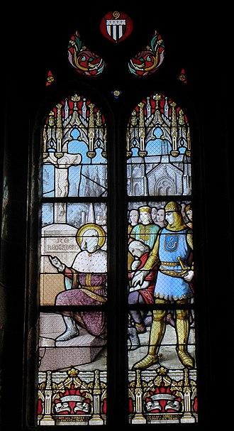 Charles, Duke of Brittany - Image: Plounéour Trez (29) Église Saint Pierre Vitrail 14