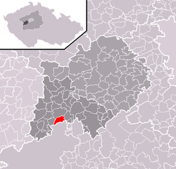 Location of Podluhy in the Czech Republic