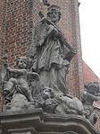 Pomnik św. Jana Nepomucena przed kościołem pw. św. Macieja we Wrocławiu.JPG