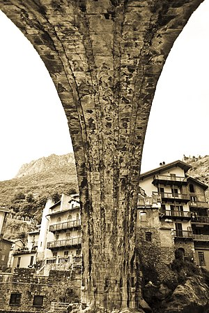 Roman bridge - Pont-Saint-Martin Bridge, Italy
