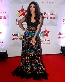 Pooja Banerjee at Star Parivaar Awards 2018.jpg