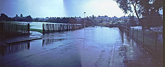 Great Flood of 1968 - Pool River in Catford during the flood