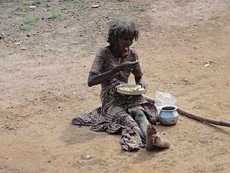 Poverty reduction - A poor woman in India