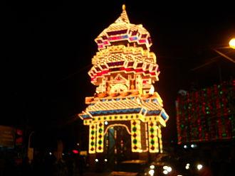 Thrissur Pooram - Illumination of Poora Pandal