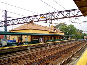 Port Chester (Metro-North station) - The station house at Port Chester
