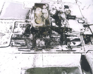Port Neal fertilizer plant explosion - Aerial photograph of the Port Neal Complex following the explosion.