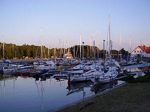 Łeba - Yacht port in Łeba