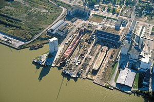Port of Toledo shipyard, Maumee River Toledo, Ohio